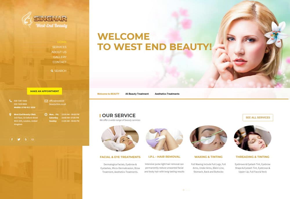 West End Beauty Website