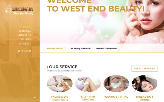 West End Beauty Welcome Page